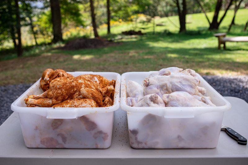 Prepping Chickens